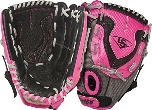 Louisville Slugger 11-Inch FG Diva Softball Infielders Gloves, Pink, Left Hand Throw
