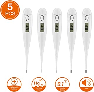 Digital Thermometer for Adults, Digital LCD Heating Baby Thermometer Tools Kids Baby Child Adult Body Temperature Measurement (5PCS)