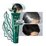 (Black) Premium partial hair coloring gray hair dye cover stick 40ml scalp health Kelp Extract.