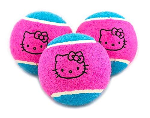 Hello Kitty Go! Tennis Balls (3 Pack), Pink/Light Blue
