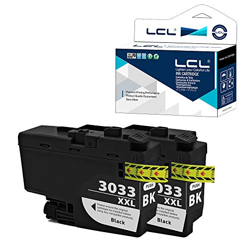 LCL Compatible Ink Cartridge Pigment Replacement for Brother LC3033 XXL LC3033XXL LC3033BK MFC-J995DW MFC-J995DW XL MFC-J815DW XL MFC-J805DW MFC-J805DW XL (2-Pack Black)