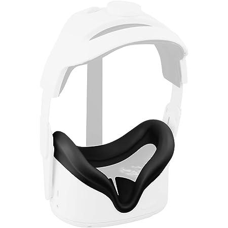 Elygo Cover Facciale in Silicone VR per Auricolare Oculus Quest 2 VR Sostituzione Impermeabile Resistente al Sudore Cuscinetti per Il Viso Accessori Oculus Quest 2 (Nero)