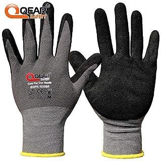 Qear Safety - 3 pares de guantes de trabajo (microfibra y