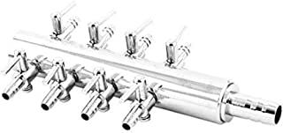 Yohii Aquarium 8 Way Inline Manifold Air Flow Pump Tubing Splitter Lever Control Valve