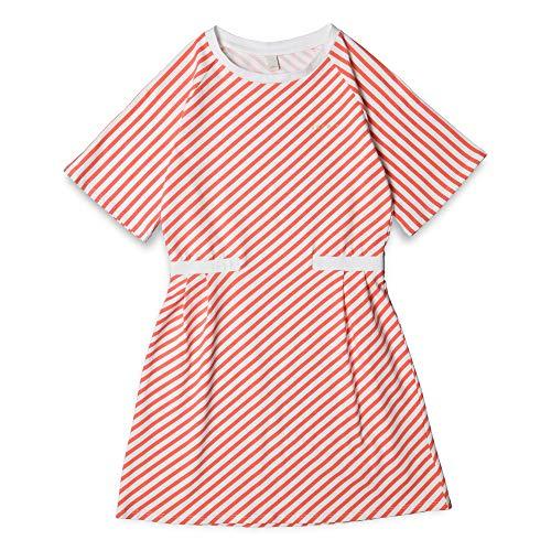 ESPRIT KIDS Mädchen Knit Dress STRI Kleid, Rosa (Coral 323), 170 (Herstellergröße: XL)