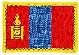 Patch Aufnäher bestickt Flagge Mongolei Mongolen zum Aufbügeln Abzeichen Wappen