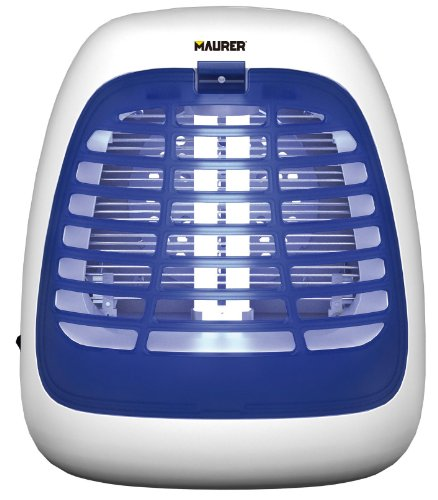 Maurer 94549 Elettroinsetticida con Ventola Aspirante, 7W, Bianco/Blu