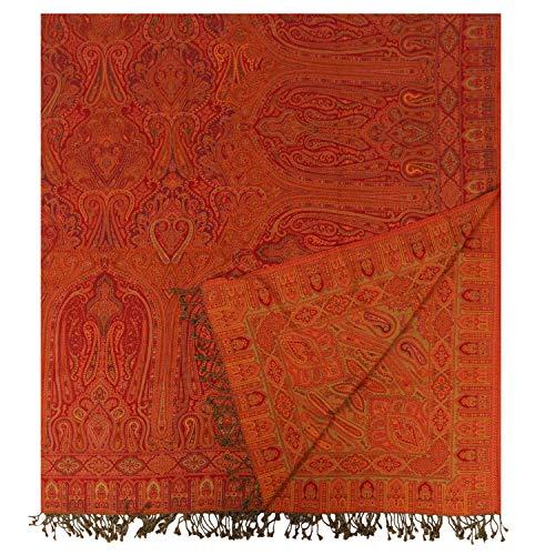 Casa Moro Orientalische XXL Bettdecke 14A Doppeltbett-Decke 220x250 cm aus 100% Baumwolle Indian-Style mit Fransen | Premium-Qualität Bettüberwurf mit Kaschmir Feeling aus Naturfaser | A945BD14A