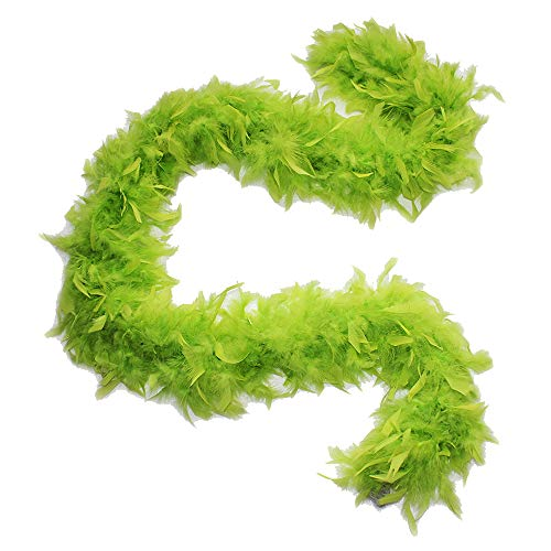 Cynthia's Feathers 80g Chandelle Feather Boas Over 30 Color & Patterns (Lime Green)