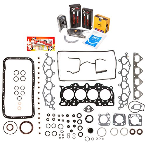 Domestic Gaskets Engine Rering Kit FSBRR4011 Compatible With 90-01 Acura Integra B18A1 B18B1 Full Gasket Set, Standard Size Main Rod Bearings, Standard Size Piston Rings