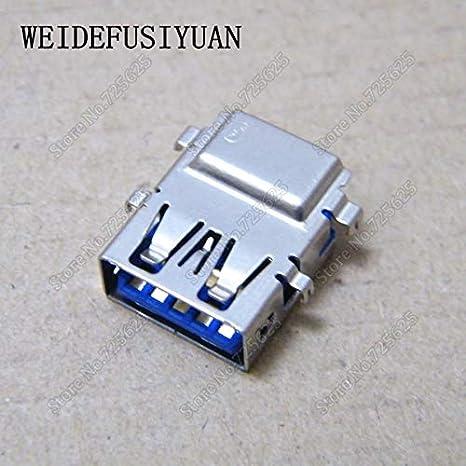 Sukvas 3.0 USB Jack Connector for DELL 3541 3443 5447 5448 7447 3147 USB 3.0 Port Socket Cable Length: 50PCS