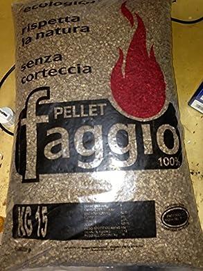 Foto di 25 sacchi pellet Italiano Faggio alta qualità 100% puro faggio certificato