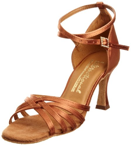 International International Dance Shoes Tanya INUFT0059, Damen Sportschuhe - Tanz, Braun (Tan Satin), 35 EU / 2,5 UK