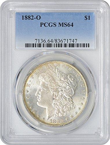 1882-O Morgan Silver Dollar, MS64, PCGS