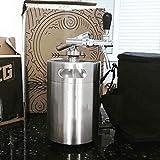 Sistema de barril de cerveza, sistema de barril de cerveza portátil de acero inoxidable, dispensador de barril de cerveza mini cola de 2L / 3.6L / 5L / 8L opcional, sistema de elaboración d(Size:5L)
