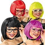 1 x Gafas sin Cristales Color Aleatorio para Disfraz