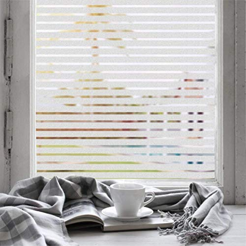 Plenty Flair Window Film Blinds Stripe Static Cling Window Film for Office Home All Smooth Glass Surface Size in 17.7 in by 78.7 in
