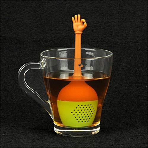 Willlly siliconen theezeef grappige handbeweging vorm theefilter casual chic thee bolletjes thee ei (duim hoog) theezeef dagelijks design modern stijl fijne zeef