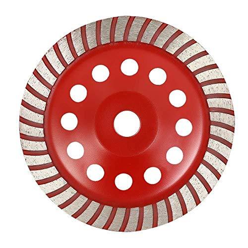 ZJN-JN Hoja de Sierra Muela, 180 mm 7' segmento de Diamante en Forma de muela abrasiva del Disco Cuenco Grinder Copa 22mm Agujero Interior Herramienta para Cortar