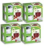 Ball Jelly Elite Collection Embossed Jam Jar (4 Packs of 4), 8 oz half pint, Clear