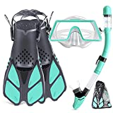 Best Womens Snorkel Masks - Tongtai Snorkeling Gear for Adults with Fins Mask Review