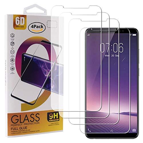 Guran 4 Paquete Cristal Templado Protector de Pantalla para Vivo V7+ / Vivo V7 Plus Smartphone 9H Dureza Anti-Ara?azos Alta Definicion Transparente Película