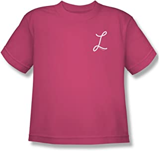 Cbs Laverne & Shirley/Laverne's L Big Boys T-Shirt in Hot Pink