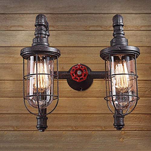 LFK pastoral industrial de la lámpara de pared del balcón retro creativo restaurante bar de hierro forjado ingeniería decorativa de la tubería de agua lámpara de pared E27