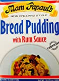Mam Papaul's Sauce Bread Pudding With Rum Sauce (Pack of 3) New Orleans Style