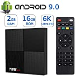 Android TV Box Android 9.0,Smart TV Boxes 2GB Ram 16GB ROM H6 Quad-Core 6K Ultra HD 2.4G WiFi H.265 Decoding 3D T95MINI Internet Media Player