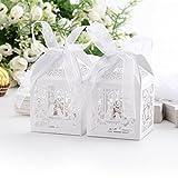Set de 50 cajitas de boda dulces regalos?? bombones y detalles Color Marfil #XTH30