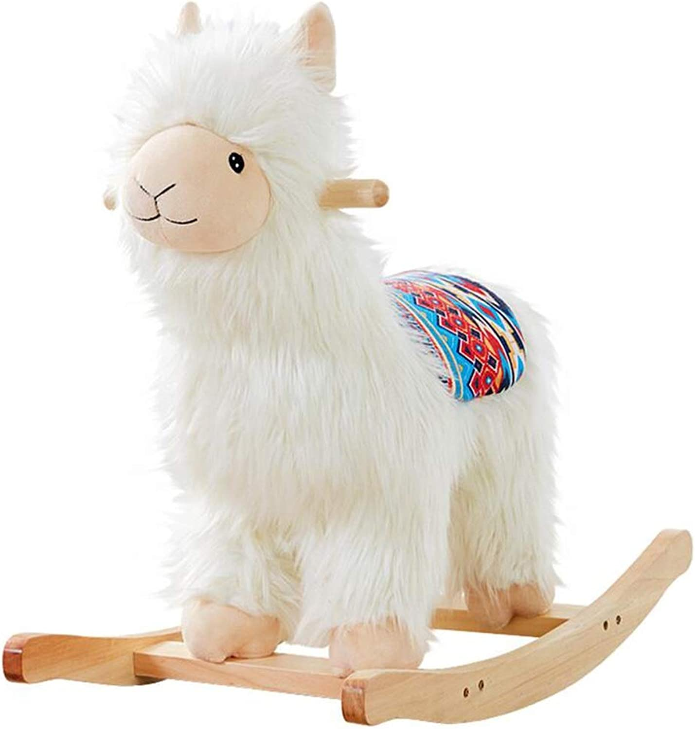 Rocking Horses Toys & Games Baby & Toddler Toys Alpaca Trojan Solid Wood Rocking Chair Baby Toys Cute Cartoon Birthday Gift 1-3 Years Old Baby Rocking Chair