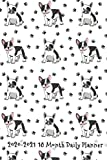 2020 - 2021 18 Month Daily Planner: Pawsitivly Perfect French Bulldog Cover | Daily Organizer Calendar Agenda | 6x9 | Work, Travel, School Home | ... Reminder | Fun gift for Frenchie Lovers!