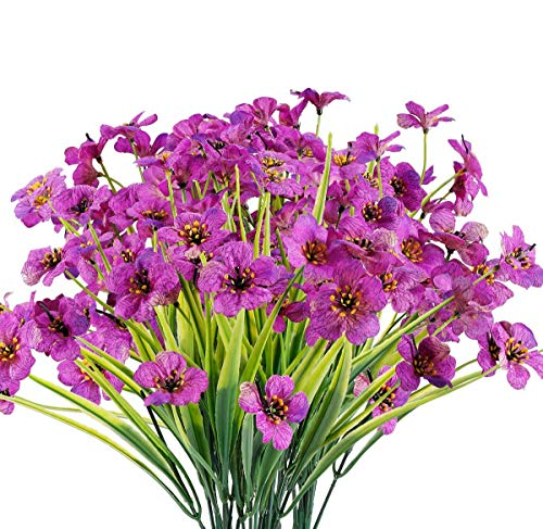 Chenguo 4 Bundles Artificial Flowers Outdoor UV Resistant Fake Flowers No...