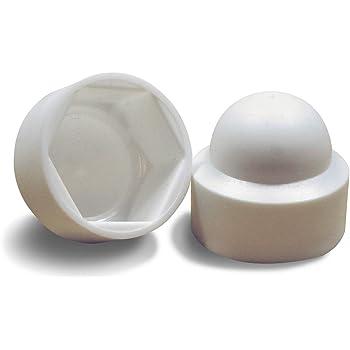 10 pcs cache-/écrous 12 blanc Cache-vis Bouche-trou Bouchons de tuyau