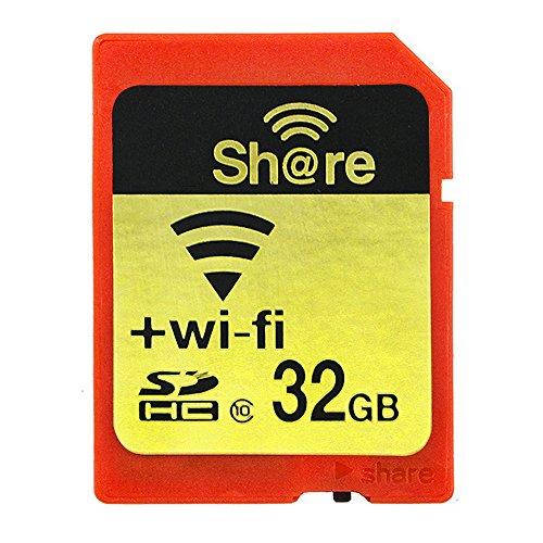GuDoQi Wireless WiFi Scheda di Memoria 32GB SDHC Classe 10 Scheda di Memoria Flash per Canon Nikon Casio Digitale SLR