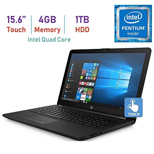 Newest HP 15.6'' WLED-Backlit Touchscreen HD WLED-Backlit Laptop PC, Intel Quad-Core Pentium N5000 Up to 2.7GHz, 4GB DDR4 SDRAM, 1TB HDD, WiFi, Bluetooth, Webcam, Intel UHD Graphics 605, Windows 10
