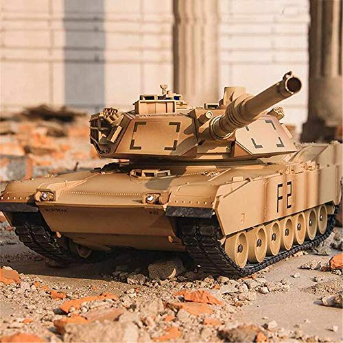DDT RC Tanks 2.4Ghz Radio Control Full Function Remote Control Tank with Rechargeable Battery and Rotating Turret and Sound Military Toys for Kids Boys Girls