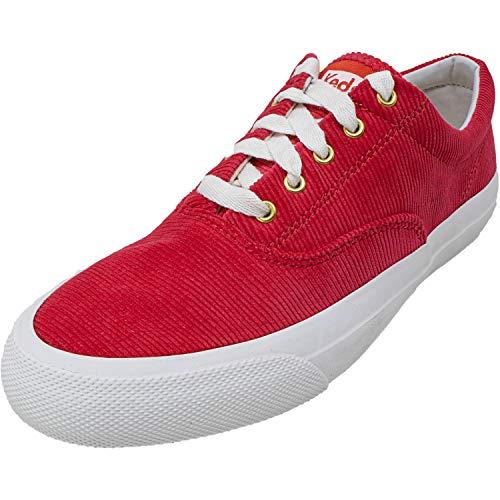 Keds Anchor Damen Sneaker aus Cord, knöchelhoch, aus Stoff, Rot (Roter Kordstoff), 42 EU