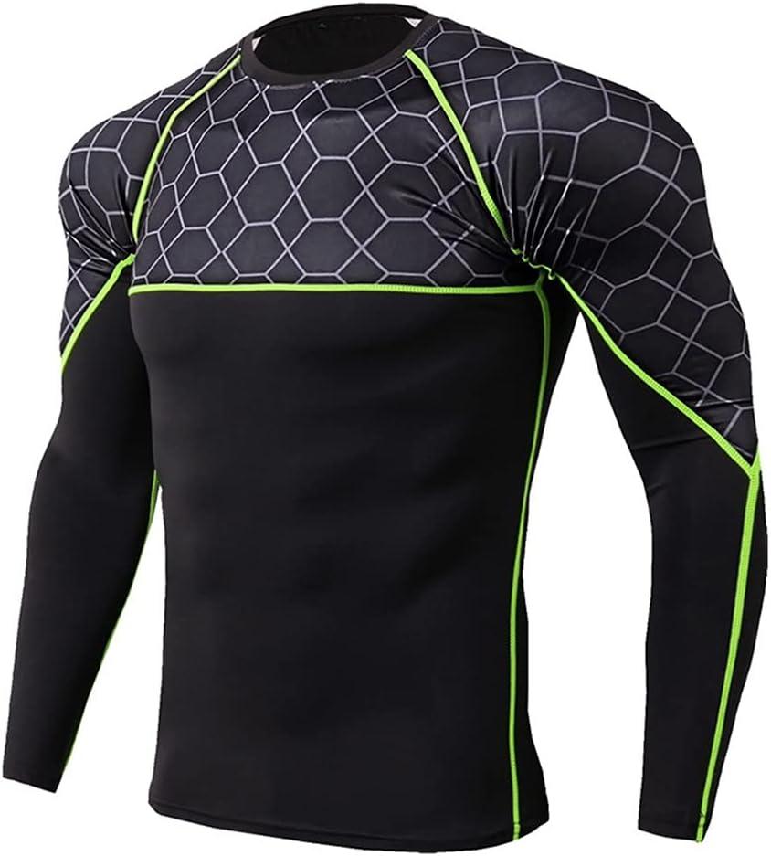 ZSQAW Thermal Underwear for Men Camiseta Sport Tight Shirt Men's Underwear Hombre Quick-Dry Ropa Interior Hombre (Color : D, Size : L Code)