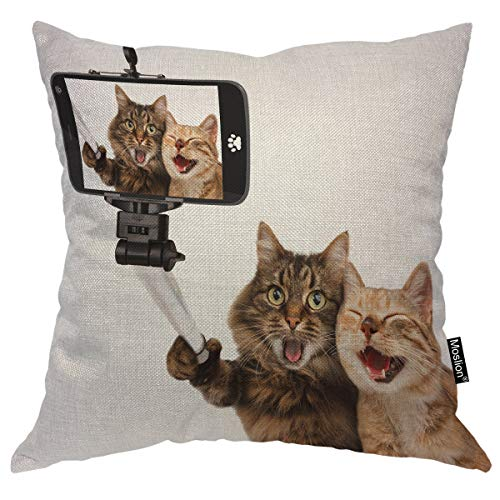 Cats selfie pillow case