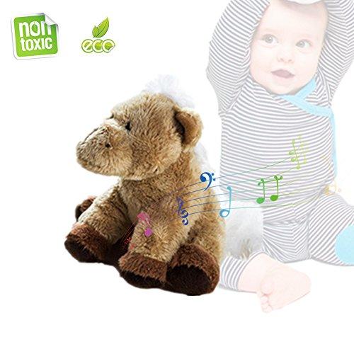 Morbuy Peluche Jouet en Peluche Sweet Zoo Cadeau de Noël pour Bébé Enfant- avec Sons de la Jungle, Jouet en Peluche, 3,9 \