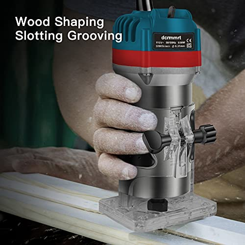 Wood Router with 15pcs 1/4