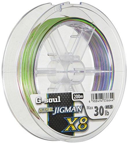 YGK YOZ-AMI G-SOUL SUPER JIGMAN X8 210yd (200m)#1.5(30lb) by YGK