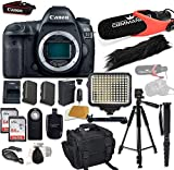 Canon EOS 5D Mark IV Digital SLR Camera Bundle (Body Only) + Accessory Bundle (14 Items)
