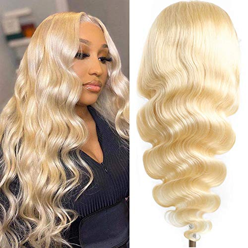 """613 Blonde Lace Front Wig Human Hair 40"""" T Part Body Wave Lace Front Wigs for Black Women Pre Plucked with Baby Hair 150% Density (40inch, Body Wave Wig)"""