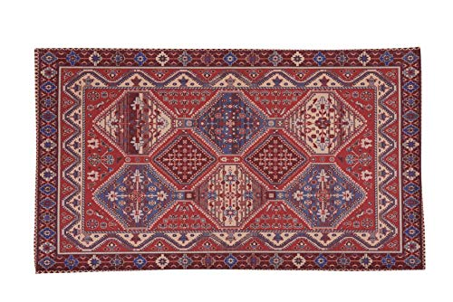 HomeLife Tapis style persan/oriental en coton pour salon/chambre à coucher/salon avec fond antidérapant et impression numérique d