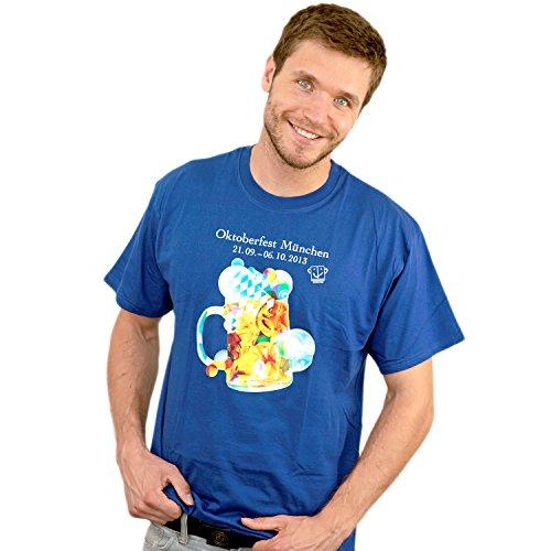 T-Shirt Oktoberfest 2013 blau, Herren T-Shirt mit Wiesnlogo 2013 Größe S