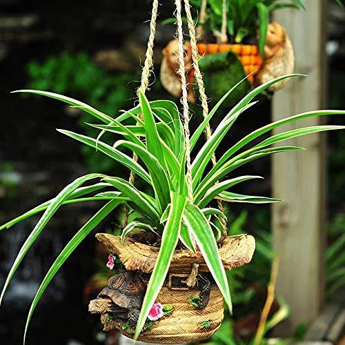 JXXDDQ Ornements de Jardin Hanging Petit Animal Flower Pot étanche FRP Jardin Statue Yard Paysage Pelouse Décoration Artisanat Cadeaux (Color : B:20 * 16 * 16cm)