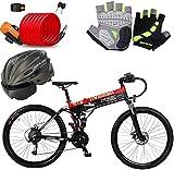 Bicicleta eléctrica de nieve, Bicicletas eléctricas rápidas for adultos de 26 pulgadas eléctrico Montañas Playa Nieve bicicletas - 240W bicicleta eléctrica con 48V / 10Ah extraíble de iones de litio f